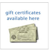 gift certificates available here view gift ideas