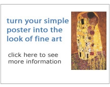turn your simple poster into the look of fine art