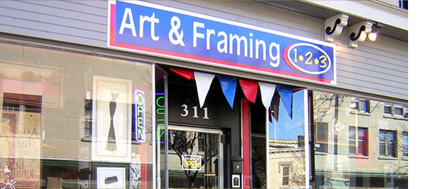 Art & Framing 1 2 3 simple picture framing service Original paintings art, prints, posters, easy as one two three framing